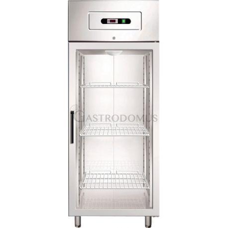 Armadio refrigerato positivo lt650 GN2/1 ventilato porta vetro