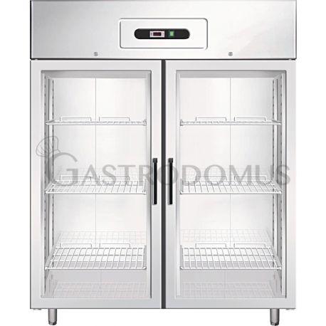 Armadio refrigerato positivo lt1325 GN2/1 ventilato porta vetro