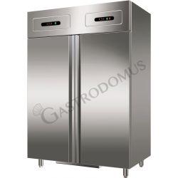 Armadio refrigerato statico doppia temperatura - 1200 LT - 2 porte - GN 2/1