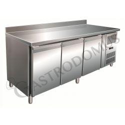 Tavolo refrigerato ventilato positivo con alzatina e 3 porte - prof.700 gastronomia GN1/1