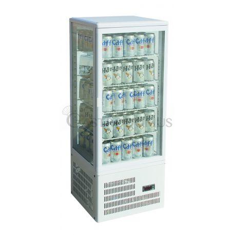Vetrina espositiva 4 lati refrigerazione ventilata positiva - versione da banco cap.98Lt
