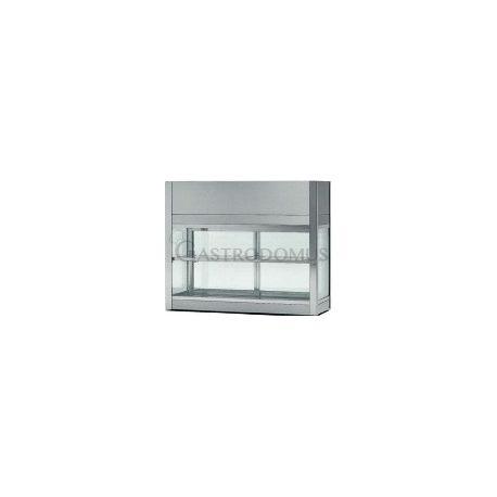 Vetrinetta refrigerata ventilata acciaio inox 18/10 cap.96Lt