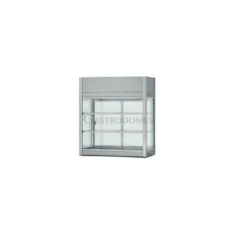 Vetrinetta refrigerata ventilata acciaio inox 18/10 cap.162Lt