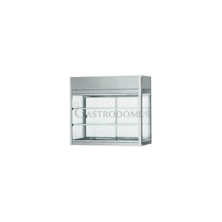 Vetrinetta refrigerata ventilata acciaio inox 18/10 cap.204Lt