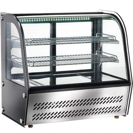 Espositore refrigerato da banco con vetro curvo cap 100Lt
