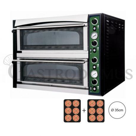 Forno elettrico per 12 pizze da Ø 35 - controllo meccanico