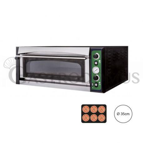 Forno elettrico per 6 pizze da Ø 35 - controllo meccanico