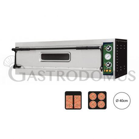 Forno elettrico per 2 teglie 60x40 o 4 pizze Ø 40 - controllo meccanico