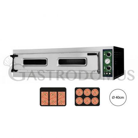 Forno elettrico per 3 teglie 60x40 o 6 pizze Ø 40 - controllo meccanico