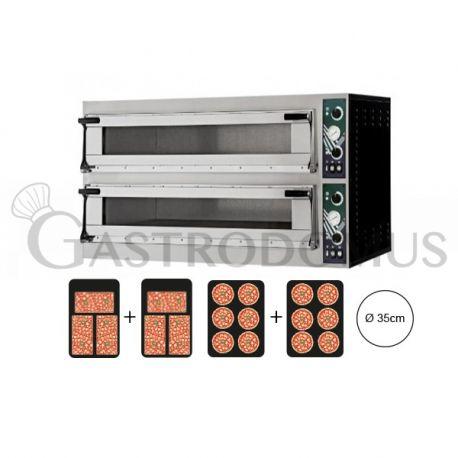 Forno elettrico con porta vetro 6 teglie 60x40 o 12 pizze Ø 36