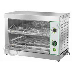 Tostiera in acciaio inox - monofase - capacità 6 toast - potenza 3300 W
