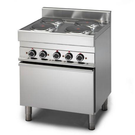 Cucina Elettrica 4 piastre forno Elettrico a convenzione