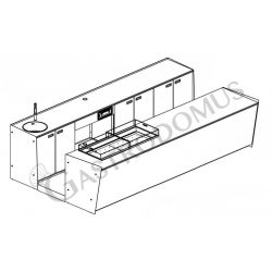 Banco bar + Retrobanco Lunghezza 4metri Drop-in Plexiglass