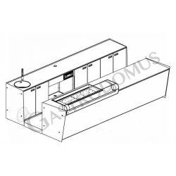 Banco bar + Retrobanco Lunghezza 4metri Drop-in Vetro supporto