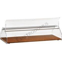Vetrina bar porta brioches in legno L.50cm