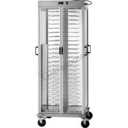 Carrello portapiatti riscaldato per 88 piatti 18/23 - L 750 mm x P 780 mm x P 1770 mm