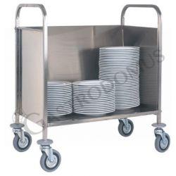 Carrello portapiatti vassoi e teglie in acciaio inox e piano in lamiera L 910 mm x P 570 mm x H 1010 mm