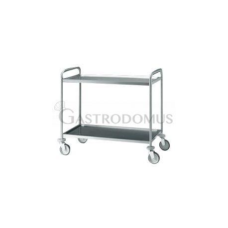 Carrello acciaio inox 2 ripiani 830X515mm