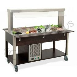 Carrello per buffet freddo temperatura +4°C/+10°C - L 1610 mm x P 680 mm x H 1440 mm