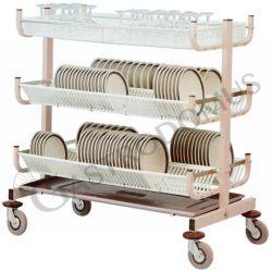 Carrello scolapiatti e bicchieri- portata 300 piatti