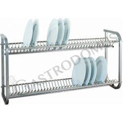 Porta piatti inox da parete - L 1040 mm x P 300 mm x H 550 mm