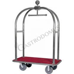 Carrello portavaligie e portabiti in acciaio inox - L 1240 mm x P 640 mm x H 1900 mm