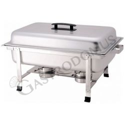 Chafing dish rettangolare gastronorm - L 670 mm x P 370 mm x H 410 mm