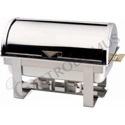 Chafing dish con coperchio roll top per bacinelle GN1/1 H 65 mm