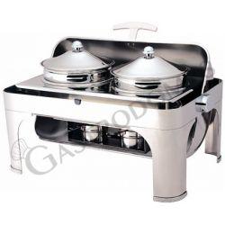 Chafing dish coperchio roll top 180° e pentole