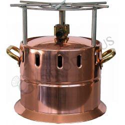 Fornello flambè a gas in rame con griglia inox