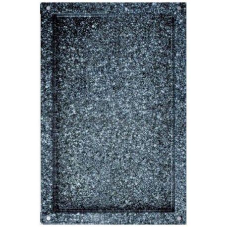 Teglia quadrata smaltata in acciaio inox GN 1/1 - 530 mm x 325 mm x H 65 mm