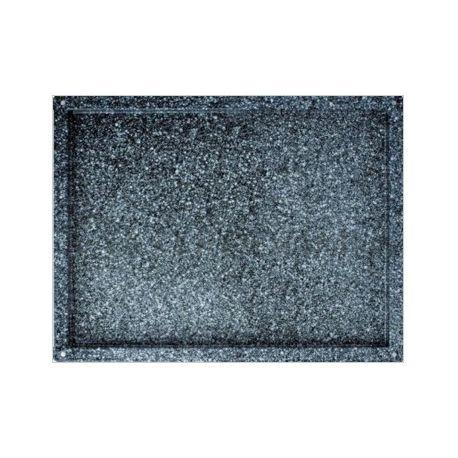 Teglia quadrata smaltata in acciaio inox GN 2/1 - 650 mm x 530 mm x H 20 mm