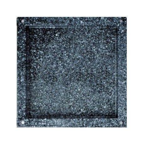 Teglia quadrata smaltata in acciaio inox GN 2/3 - 353 mm x 325 mm x H 20 mm