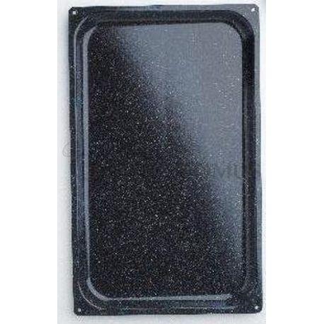 Teglia quadrata stampata in acciaio inox GN 1/1 530 mm x 325 mm x H 20 mm
