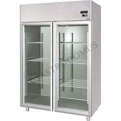 Armadio refrigerato 1400 Lt. temp. -18/-22° 2 porte vetro