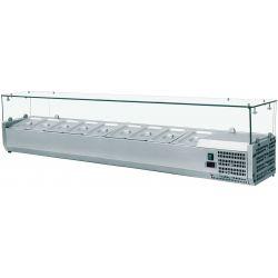 Vetrina refrigerata - L 180 cm - predisposta per 9 bacinelle