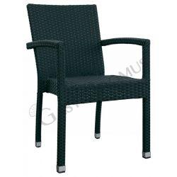 Sedia Throne in alluminio, rivestimento in filo di polietilene