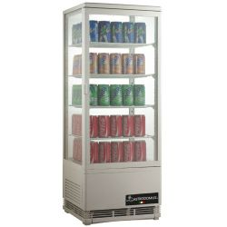 Espositore refrigerato ventilato per bibite - capacità 98 LT - temp. 0° C/ + 12° C