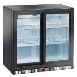 Espositore refrigerato ventilato per bibite - 2 porte scorrevoli - 210 LT - temp. + 2° C/ + 8° C