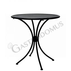 Tavolo rotondo da esterno in acciaio verniciato