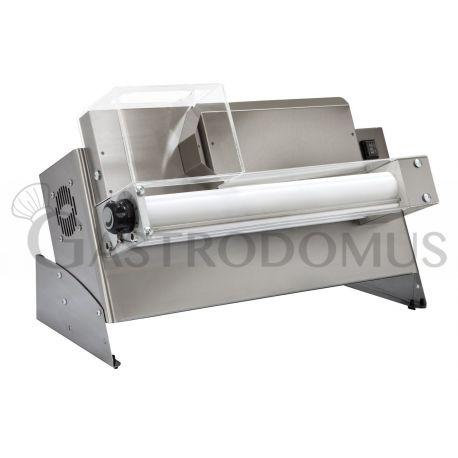 Stendipizza monorulli in inox H 41 cm per pizza diam. 14/30 cm e pedale elettrico