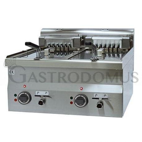 Friggitrice elettrica 2 vasche capacità Lt 10+10