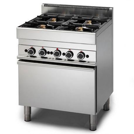 Cucina a Gas 4 fuochi forno Elettrico a convenzione