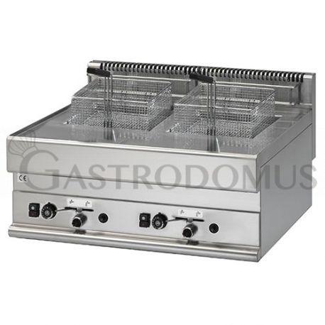 Friggitrice Gas 2 vasche capacità Lt. 8+8