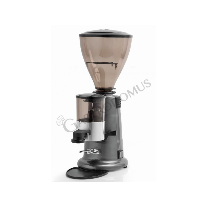 Macina caffè con dosatore per caffè, ferma sacchetto e manopola, produzione oraria 3/4 kg