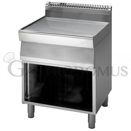 Elemento neutro con cassetto su armadio aperto 70x70