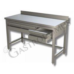 Tavolo con 2 cassetti, alzatina, Prof. 600, Lungh. 1000