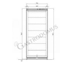 Armadio refrigerato congelatore 538 Lt