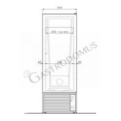 Armadio refrigerato congelatore 500 Lt