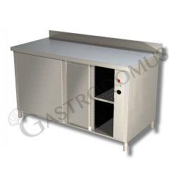 Tavolo caldo porte scorrevoli alzatina Prof. 600 Lungh. 1000